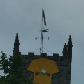 Skipton Castle sports a yellow jersey.