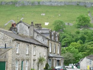 Kettlewell. Look for that Tour jersey up there on the hillside.
