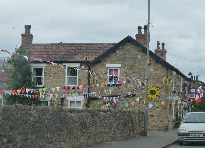 A cheerful corner in the next village along, West Tanfield.