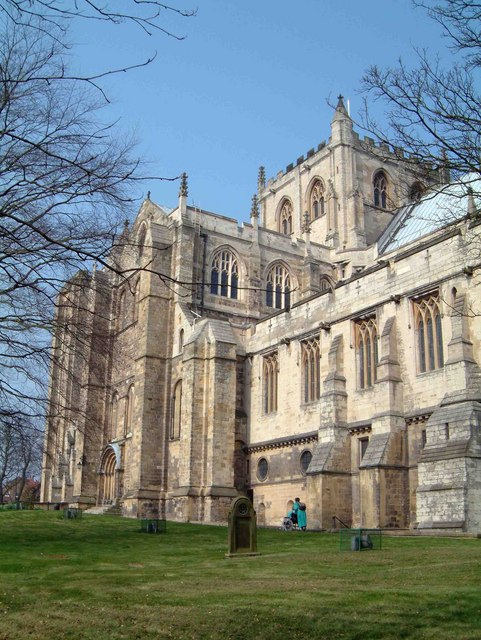 Ripon Cathedral: image courtesy of Wikimedia Commons.