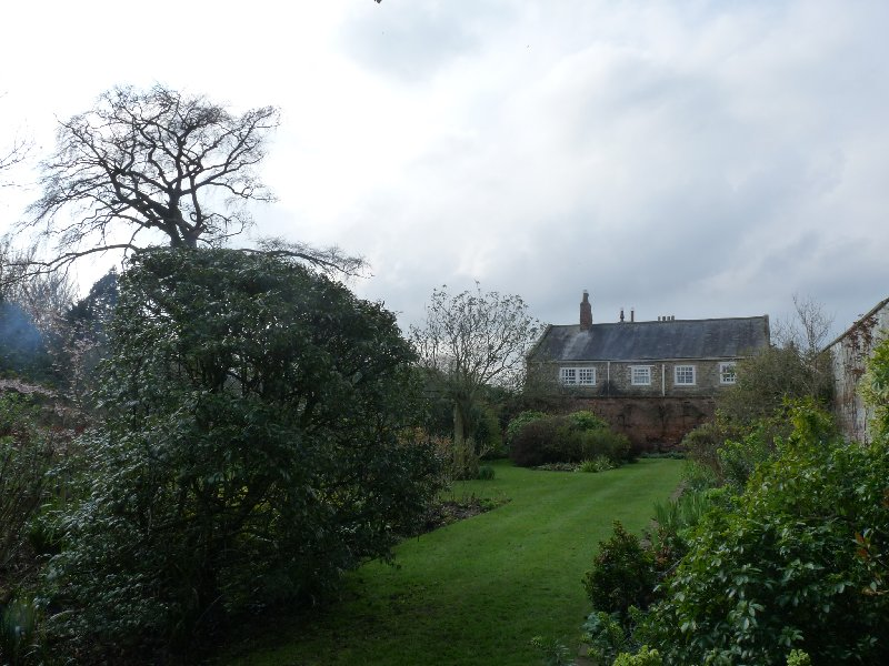 The Old Grange seen from the walled garden which most certainly was unknown to those lay brothers.