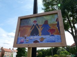 All the school children re-interpreted French Impressionist paintings.