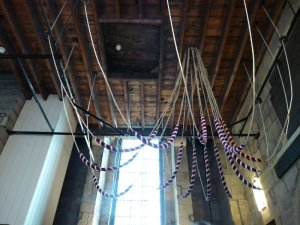 Bell ropes ready for action.