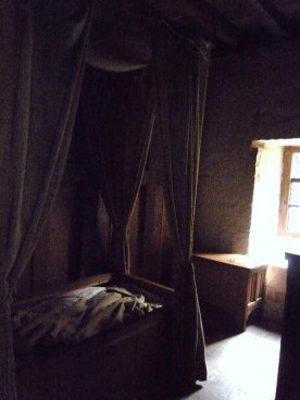 The monk's bedchamber and personal chapel.