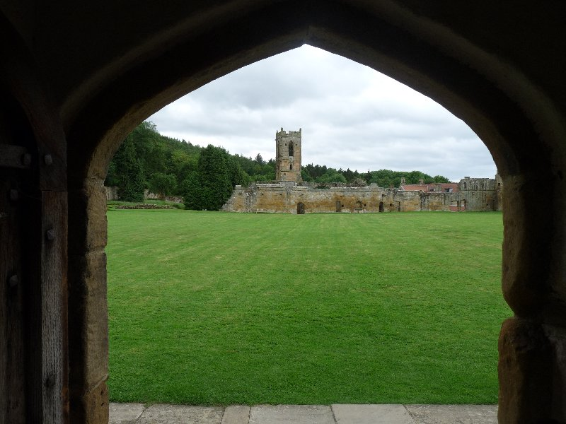 Mount Grace Priory viewed from the cloisters