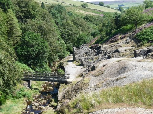 An old lead-works, spoil heaps, a river and a perfect picnic spot.