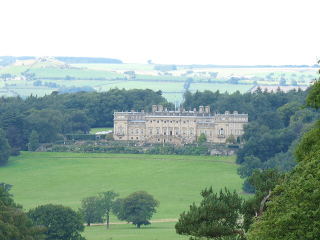 Our best view of Harewood House came at the end of our walk.