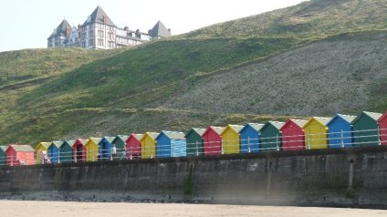 Beach huts at Whitby.