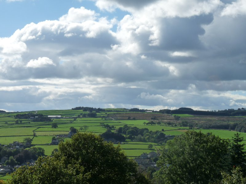 A view across Nidderdale near the end of our journey