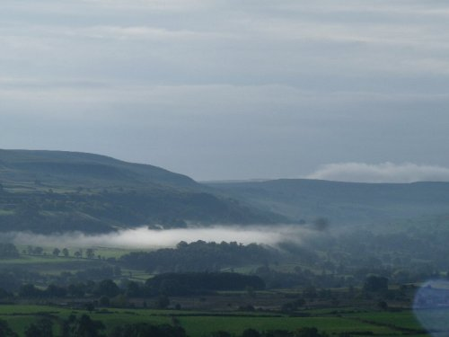 Looking down over Wensleydale from Castle Bolton.
