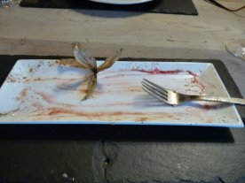 The end of a good pud.