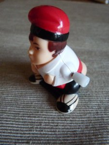 Our caganer is clockwork.  He does back-flips.