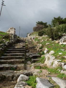 Steps up to the city of Priene.