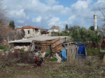 A village scene in Didyma. Outside appearances aren't important in Turkey.