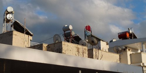 Solar heating captors are everywhere.