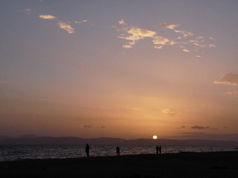 Sunset over Ayvalik.