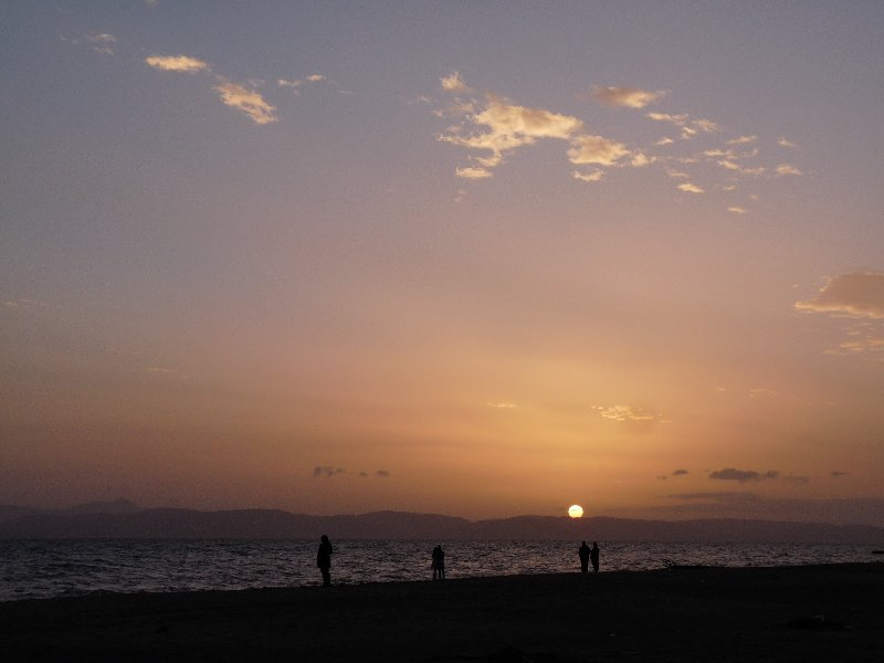 Sunset over Ayvalik.