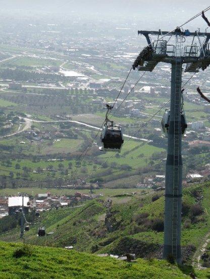 Modern Bergama below, Pergamum above....
