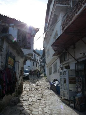 A quiet street in Şirince.