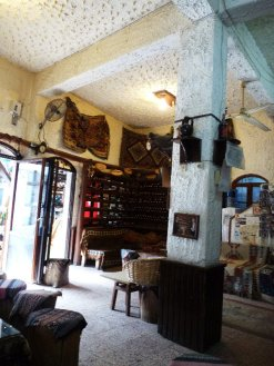 A quiet bar: a good place to sample some of those fruit wines, or an apple tea.
