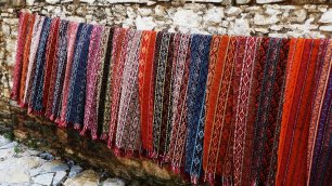 Local textiles on sale.