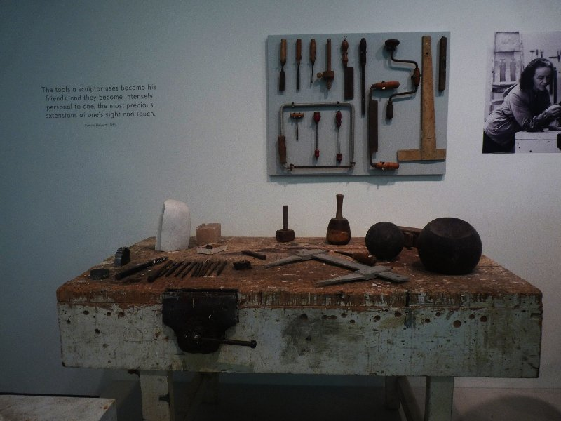 Hepworth's workbench.
