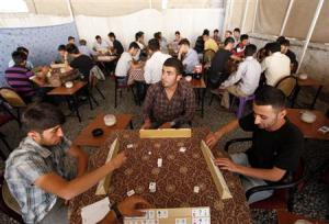 Traditional Turkish tea house: men only. (Reuters/Umit Bektas)
