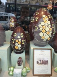 Easter eggs on display at Betty's, Harrogate's Top Caff.