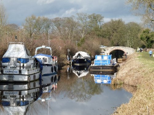 Barges on the canal.