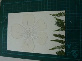 My collograph, ready for printing.....