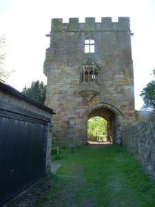 The Marmion Tower with its oriel window.