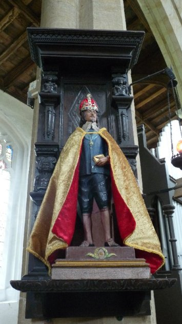 King Charles the Martyr at South Creake church. The Anglo-catholic tradition is strong here.