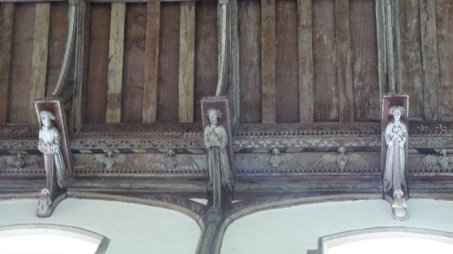 And angels at North Creake church.