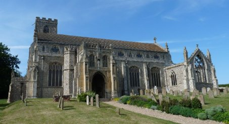 The splendid parish church at Cley-next-the-sea (population: 376)