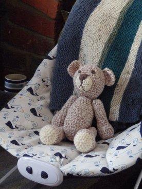 William's first friend, crocheted by Grandma Sue.