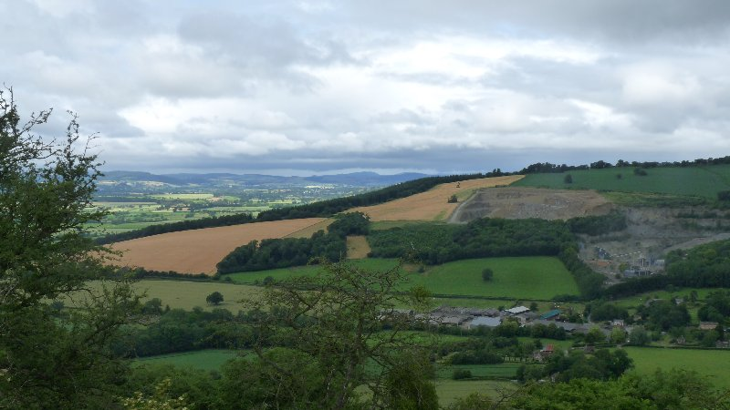 Commanding views of several counties, in England..... and Wales.