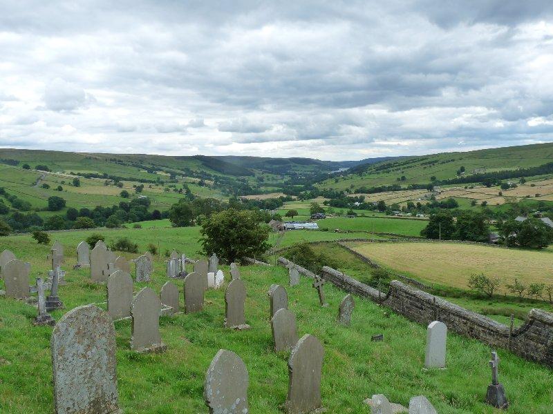 Middlesmoor churchyard.