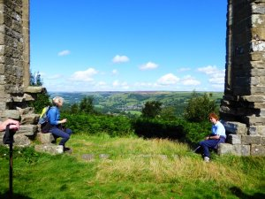 Yorke's Folly: a resting place for weary walkers to enjoy the view.
