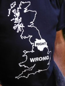 John's view of Yorkshire, as described on his T shirt, is the correct one.