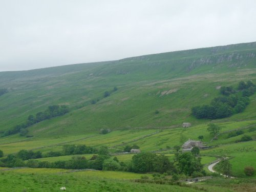 The landscape of Buttertubs, only a little tamed since Viking times.