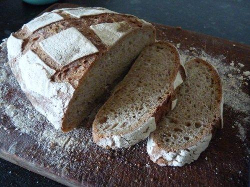 Sourdough loaf, fresh for breakfast.