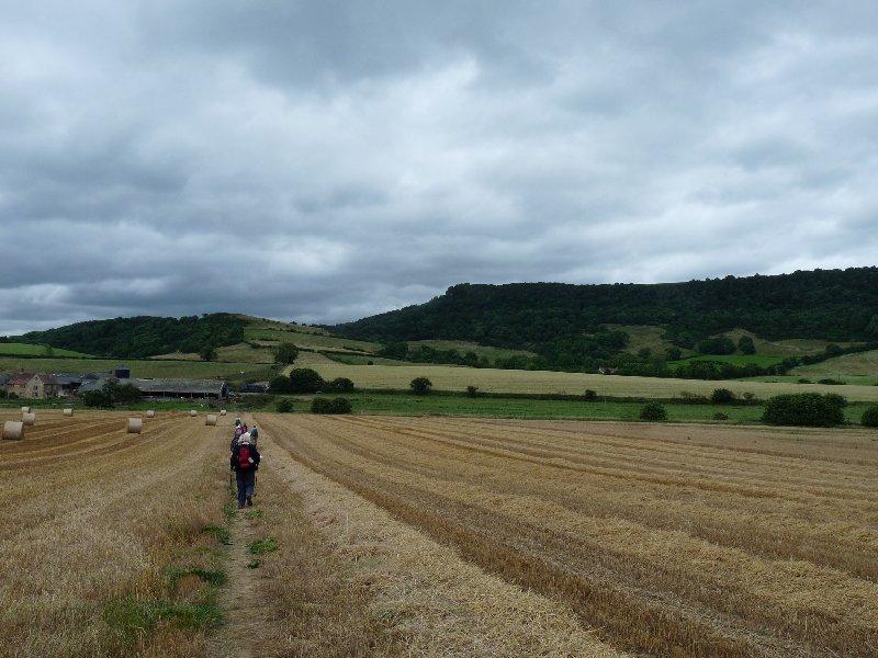 A level walk across the fields.