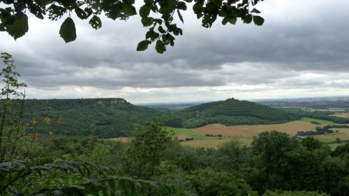 Almost at the top of Sutton Bank and journey's end.