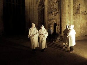 Monks by night.