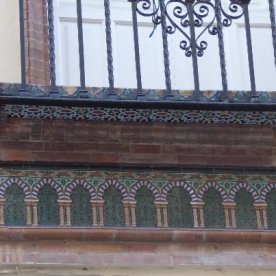 A favourite: this frieze runs the whole width of the building on both sides.