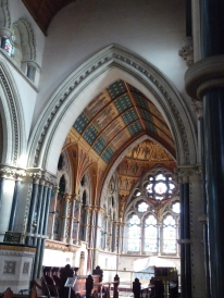 First glimpse of the richly coloured interior