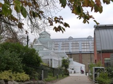 Round the back of the Horniman.