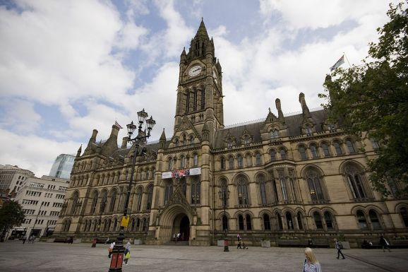 Manchester Town Hall: Wikimedia Commons