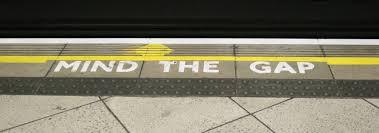 'Mind the gap' (Wikimedia Commons)
