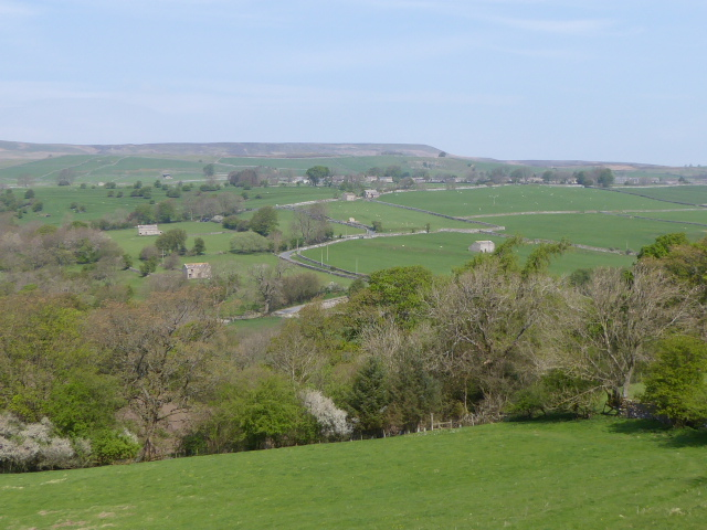 Our coffee-stop view across the valley. Those stone barns are typical of Wensleydale and Coverdale.